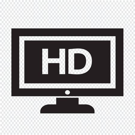 hd tv: HD tv icon design Illustration Illustration
