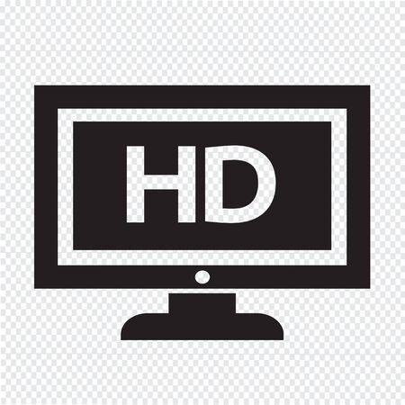 TV HD icône illustration de conception Banque d'images - 48328858
