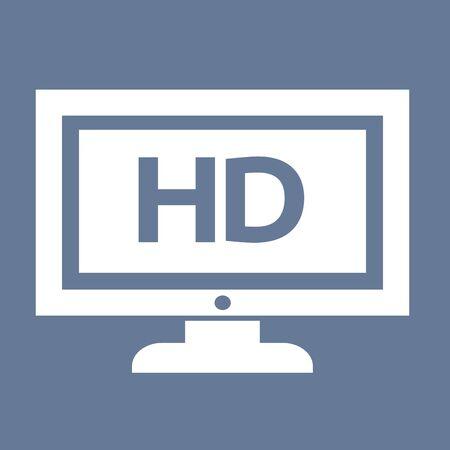 TV HD icône illustration de conception Banque d'images - 48328982