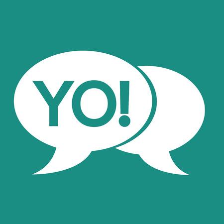 YO internet acronym chat bubble illustration