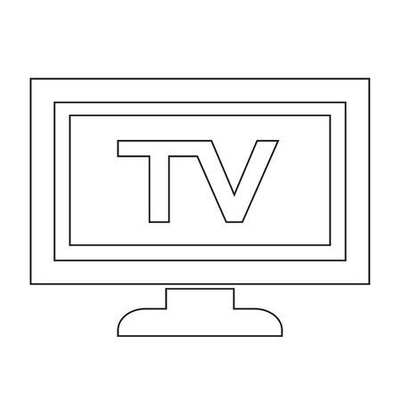 Tv icône illustration de conception Banque d'images - 48329261