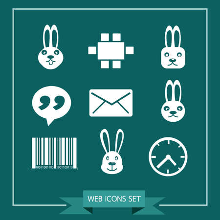 communication icons: Set of web icons for website and communication