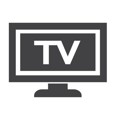 tele: tv icon design Illustration