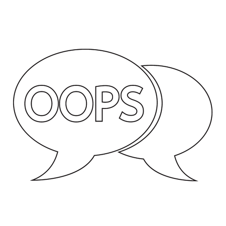 oops: OOPS internet acronym chat bubble illustration