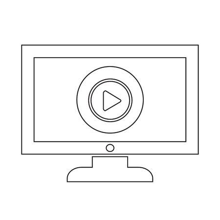 Play button tv icône conception Illustration Banque d'images - 48342650