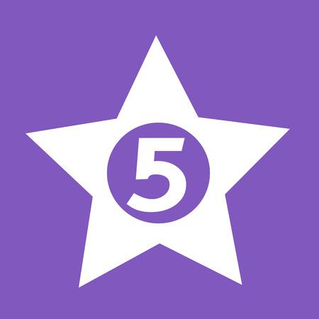 five star: five star Hotel Icon design Illustration Illustration