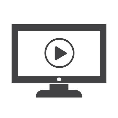 Play button tv icône conception Illustration Banque d'images - 48342667