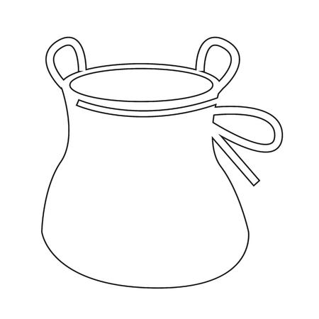 magnesia: Chalk Bag climb icon design Illustration