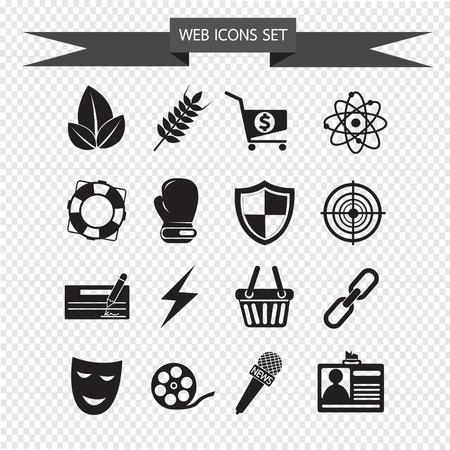 web icons: web icons Set illustration