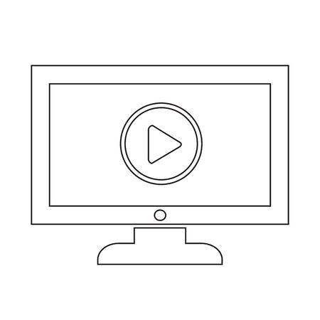 Play button tv icône conception Illustration Banque d'images - 48342967