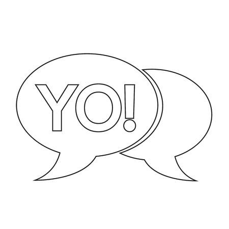 acronym: YO internet acronym chat bubble illustration