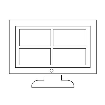 16 9 display: Channel tv icon design Illustration