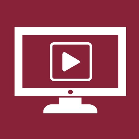 Play button tv icône conception Illustration Banque d'images - 48343476