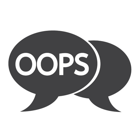 acronym: OOPS internet acronym chat bubble illustration