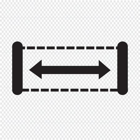 width: Width icon design Illustration Illustration