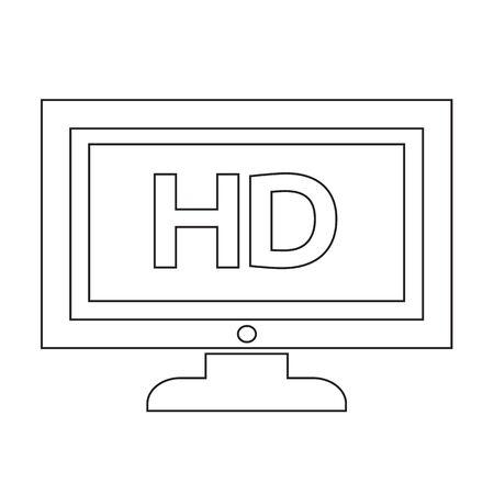 TV HD icône illustration de conception Banque d'images - 48344209