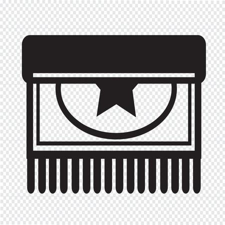 carpet cleaning service design: Carpet icon design Illustration