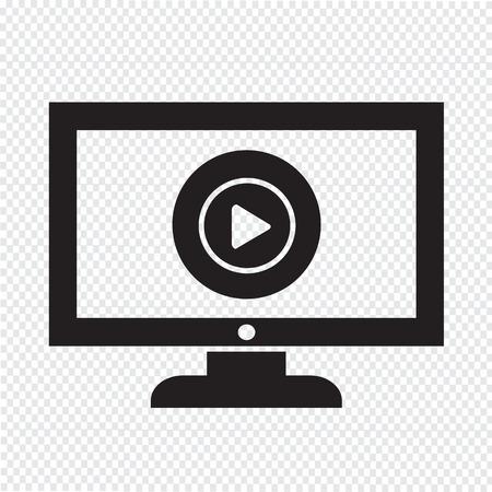 Play button tv icône conception Illustration Banque d'images - 48344222