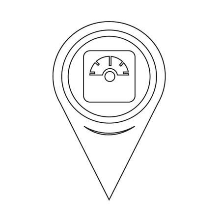 地図ピン ポインター装置アイコンの重み付け