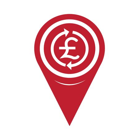 money pound: Map Pin Pointer Money Pound Icon , GBP currency symbol