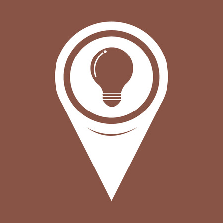 invent clever: Map Pointer bulb icon