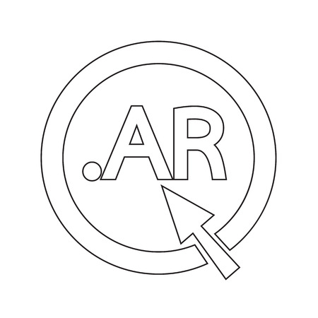 ar: Argentina Domain dot AR sign icon Illustration Illustration