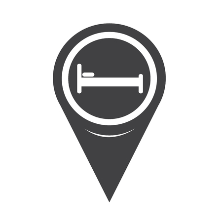 map pin: Map Pin Pointer Bed icon Illustration