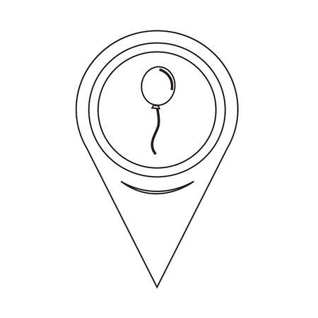 Map Pin Pointer balloon icon