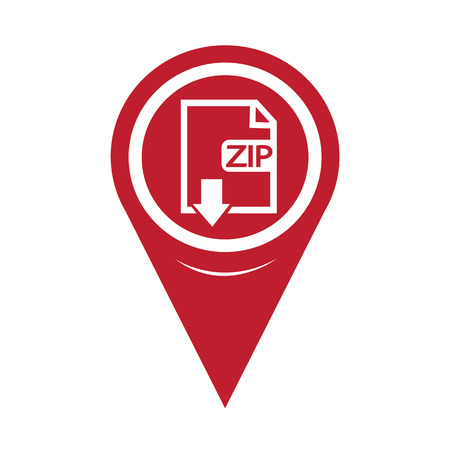 uncompressed: Map Pin Pointer File type ZIP icon
