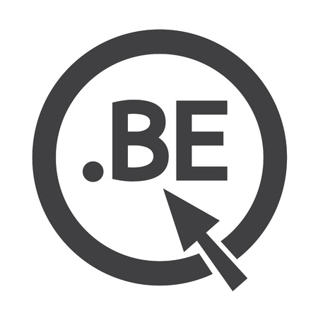 be: Belgium Domain dot BE sign icon Illustration