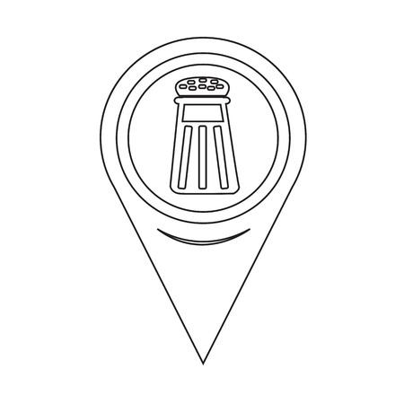 SHAKER: Map Pointer pepper shaker icon