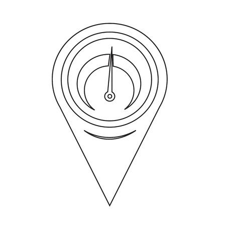 tachometer: Map Pin Pointer tachometer icon