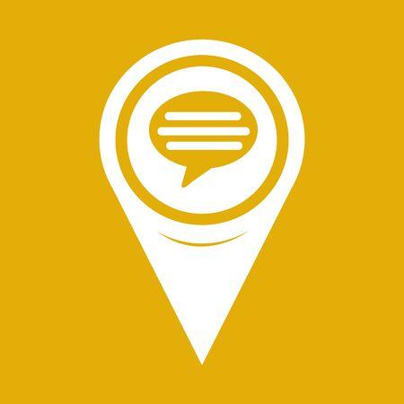 comment: Map Pointer comment icon Illustration