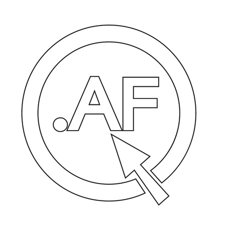 domain: Afghanistan Domain dot AF sign icon Illustration