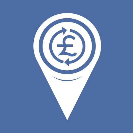 gbp: Map Pin Pointer Money Pound Icon , GBP currency symbol
