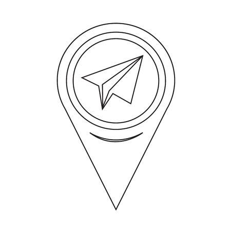 paper pin: Map Pin Pointer Paper plane icon