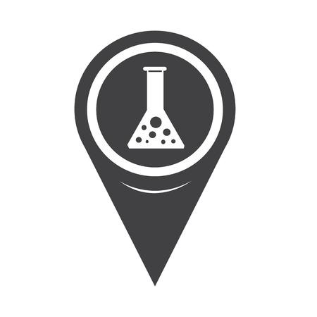 forensics: Map Pointer test tube icon