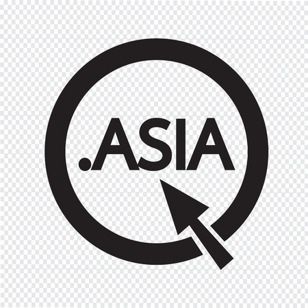 domain: Domain dot asia sign icon Illustration Illustration