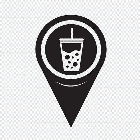 cold drink: Map Pointer cold drink icon