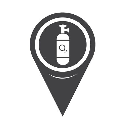compressed gas: Map Pin Pointer Oxygen Cylinder icon