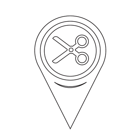 snip: Map Pin Pointer Cut, scissors icon