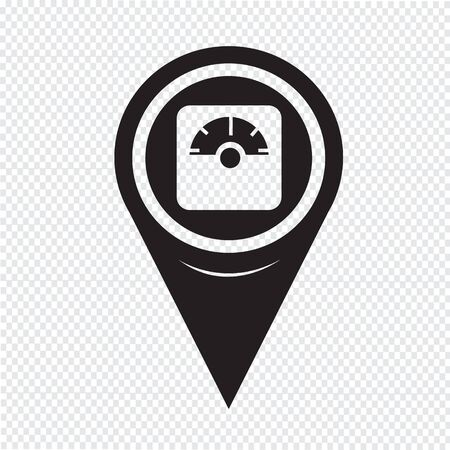 Map Pin Pointer weighting apparatus icon  イラスト・ベクター素材
