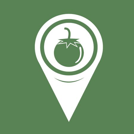 map pin: Map Pin Pointer tomato icon Illustration