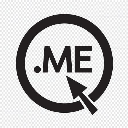 me: Domain dot me sign icon Illustration Illustration