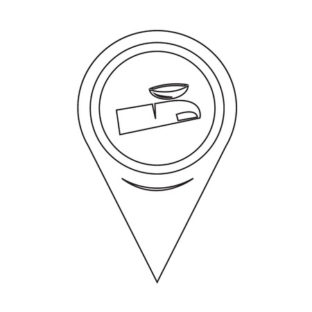 misuse: Map Pin Pointer Contact Lens icon