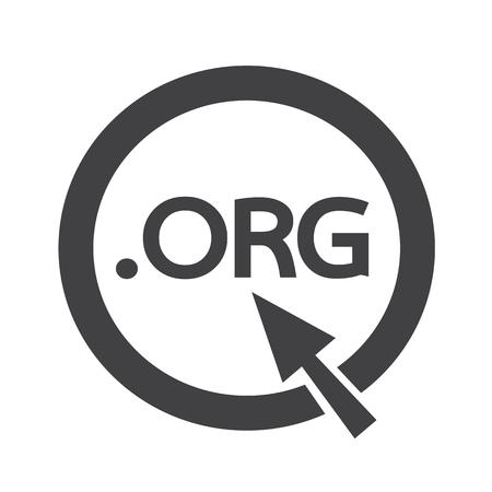 org: Domain dot org sign icon Illustration Illustration
