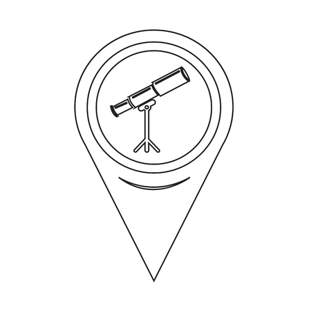 map pin: Map Pin Pointer Telescope Icon Illustration