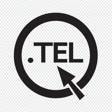 domain: Domain dot tel sign icon Illustration