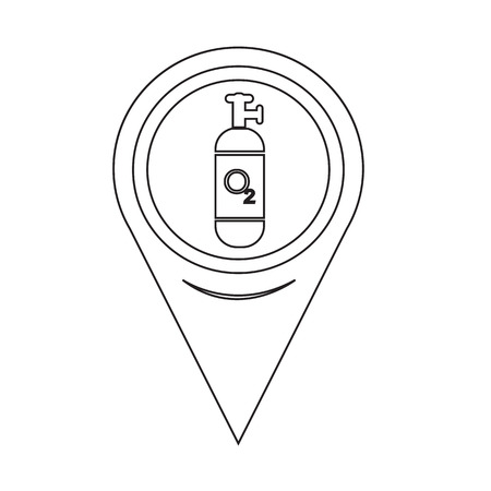 cylinder: Map Pin Pointer Oxygen Cylinder icon