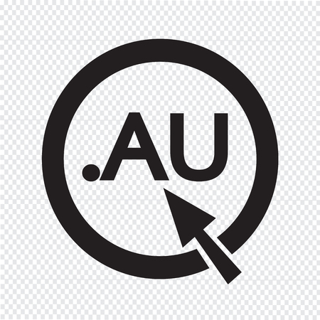 au: Australia Domain dot AU sign icon Illustration Illustration